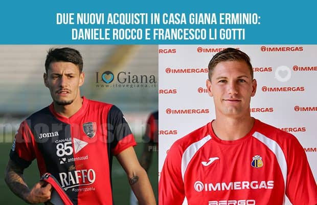 Giana Erminio due nuovi acquisti Francesco Li Gotti e Daniele Rocco