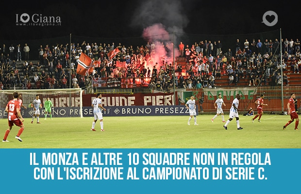 Il Monza non in regola iscrizione campionato Serie C