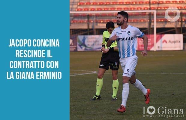 Jacopo Concina rescinde il contratto con la Giana Erminio