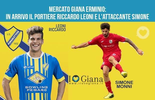 Mercato Giana Erminio in arrivo il portiere Riccardo Leoni e l'attaccante Simone Monni