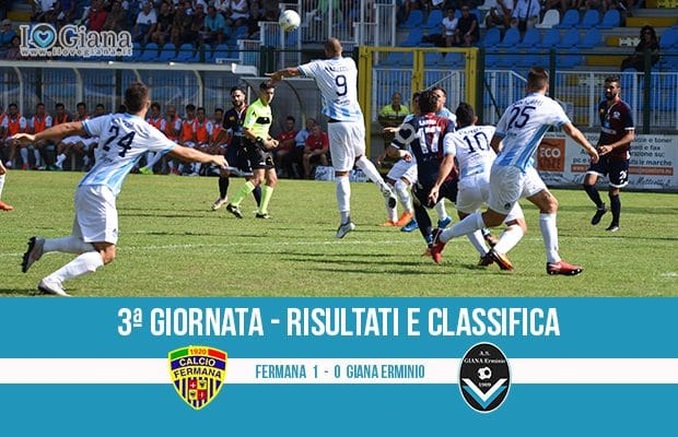 3 Fermana Giana Erminio 1-0 risultati e classifica 3 giornata serie C girone B