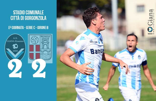 Giana Erminio Rimini 2-2 serie C girone B