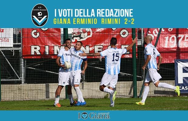 5 giornata Pagelle Giana Rimini 2-2