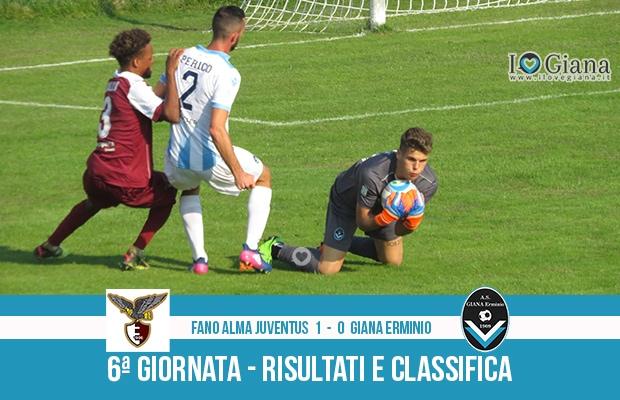 Fano Giana Erminio 1-0 risultati e classifica 6 giornata serie C girone B