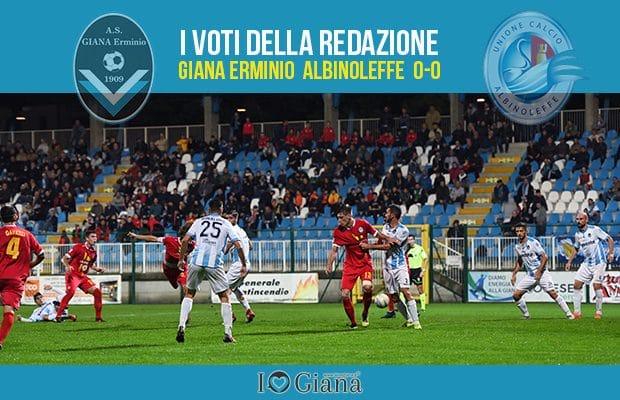 9 giornata Pagelle Giana Albinoleffe 0-0