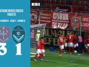 10 Triestina Giana Erminio 3-1 serie C girone B