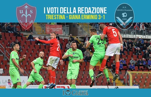 10 giornata Pagelle Triestina Giana 3-1