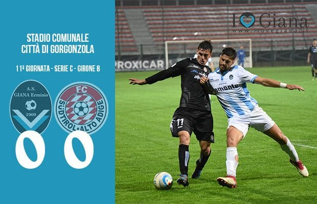 11 Giana Erminio Sudtirol 0-0 serie C girone B
