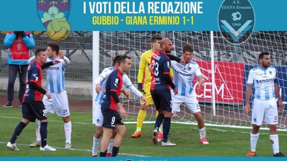 12 giornata Pagelle Gubbio Giana 1-1