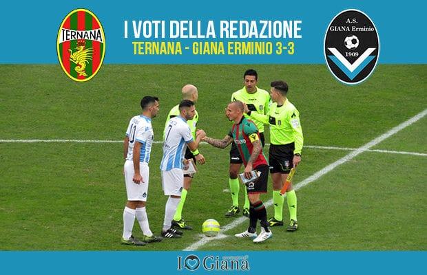 17 giornata Pagelle Ternana Giana 3-3