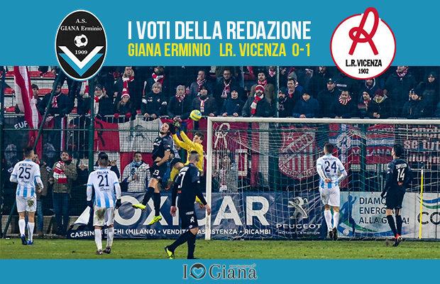 20 giornata Pagelle Giana Vicenza 0-1