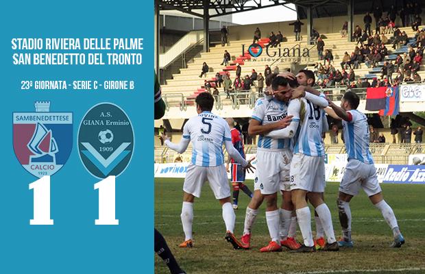 Sambenedettese Giana Erminio 1-1 serie C girone B