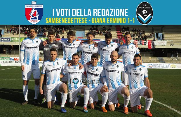 serie c girone b 23 giornata Pagelle Samb Giana 1-1