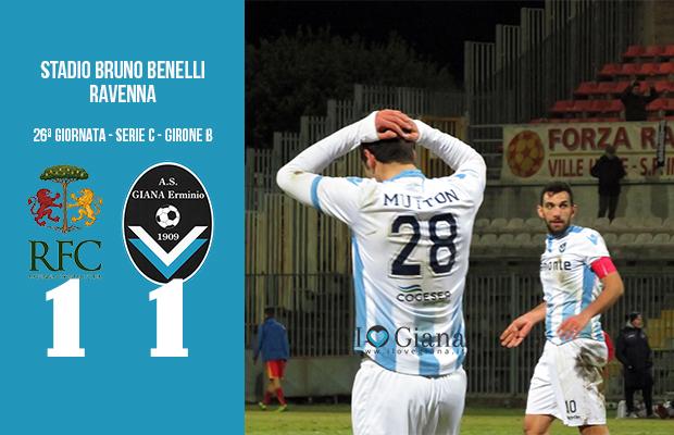 Ravenna Giana Erminio 1-1 serie C girone B