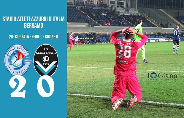 Albinoleffe Giana Erminio 2-0 serie C girone B