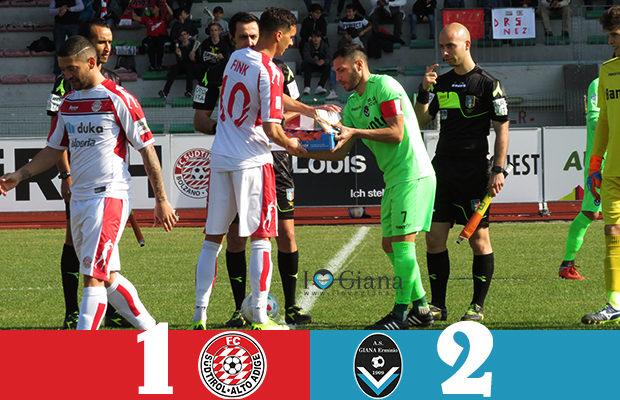 Sudtirol Giana E 1-2 serie C girone B