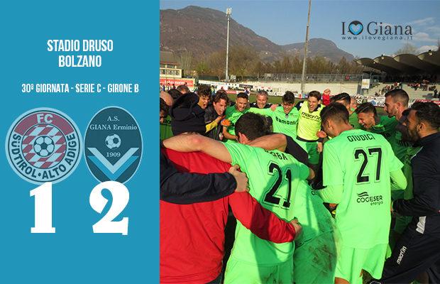 Sudtirol Giana Erminio 1-2 serie C girone B