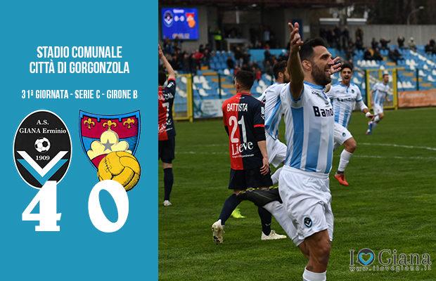 Giana Erminio Gubbio 4-0 serie C girone B