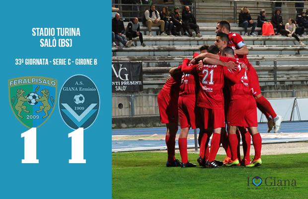 Feralpisalò Giana Erminio 1-1 serie C girone B