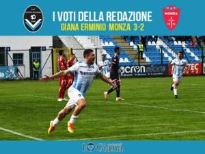 serie c 34 giornata Pagelle Giana Monza 3-2