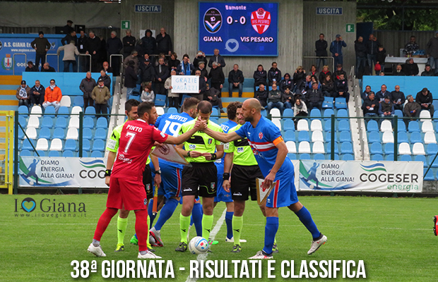 Giana Erminio Vis Pesaro 3-3 risultati e classifica 38 giornata serie C girone B