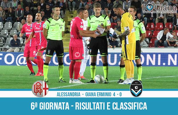 Alessandria Giana Erminio 4-0 risultati e classifica 6 giornata serie C girone A
