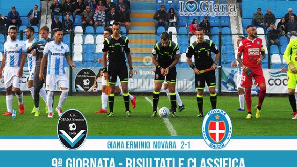 Giana Erminio Novara 2-1 risultati e classifica 9 giornata serie C girone A